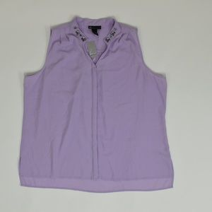 Lane Bryant Plus 24 Purple Blouse Polyester solid